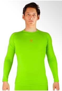 harga Tiento Baselayer Manset Rash Guard Compression Long Sleeve Green Stabilo Zalora.co.id