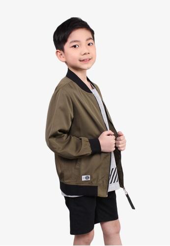 SODA green Zipped Up Long Sleeve Jacket - ARMY GREEN 8B640KA0DE29F6GS_1