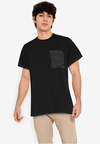 ZALORA BASICS black Strap Chest Pocket Tee 6C547AA76EA478GS_1