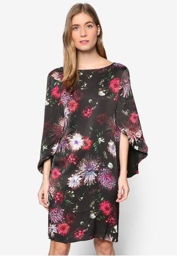 花卉綻放喇叭袖連身裙, 服飾esprit 童裝, 洋裝