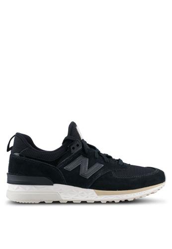 New Balance black 574 Sport Lifestyle Sneakers NE323SH0SXNDMY_1