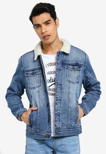 BLEND blue Teddy Collar Denim Jacket CE503AAA1D02D6GS_1