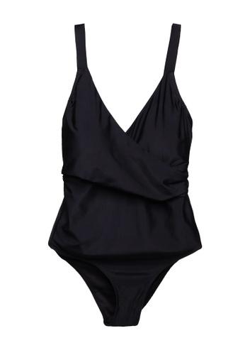 Vero Moda black Plus Size Charlie Swimsuit AC997US83287B0GS_1