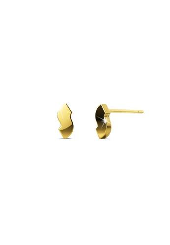 Bullion Gold gold BULLION GOLD Bold Initial Alphabet Letter Earrings Gold Layered Steel Jewellery- S 673B6AC5FF7375GS_1