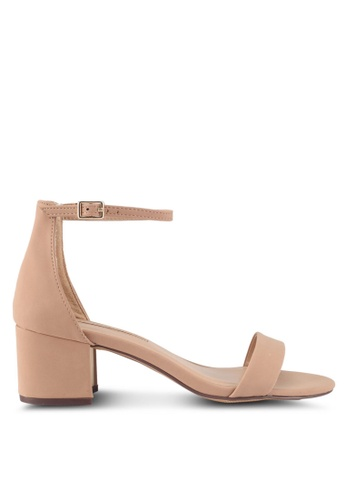 Dorothy Perkins brown and beige Camel 'Saint' Heeled Sandals DE1D6SH4D9FA92GS_1