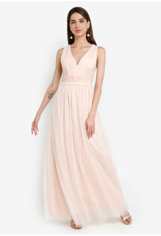 baf115990f98f Little Mistress Nude Lace Trim Maxi S$ 154.90. Sizes 6 8 10 12 14