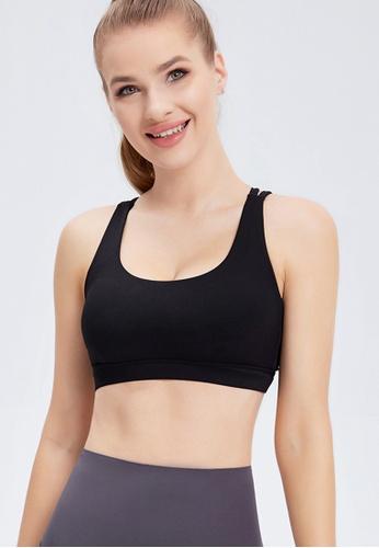 Trendyshop black Quick-Drying Yoga Fitness Sports Bras D07BBUS2AE2243GS_1