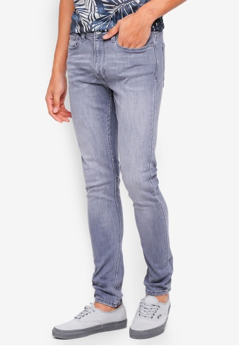 Burton Menswear London 灰色 Grey Hyper Stretch Ethan Super Skinny Fit Jeans CC9D2AAC28E731GS_1