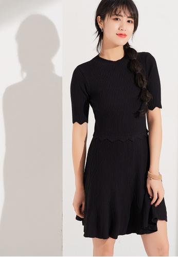 Zafiti black Knitting Dress B1B7EAA7273055GS_1