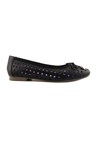 Flatss & Heelss by Rad Russel black Hole-punched Flats FL655SH43ENGSG_1