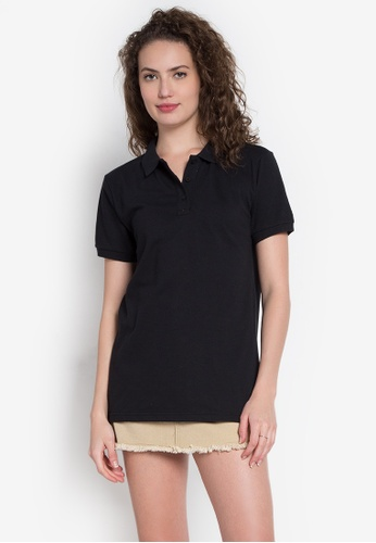 Freego black Ladies Basic Polo Tee FR760AA0KCBKPH_1