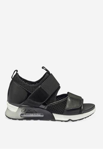 ASH 黑色 Lunatic - 黑色網孔編織運動鞋 F54BASH736A601GS_1
