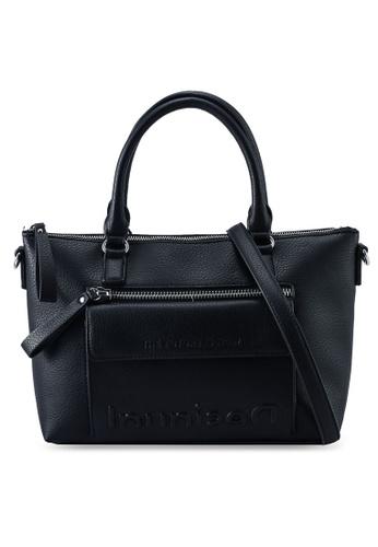 Desigual black Logo Top Handle Shoulder Bag 26742ACF7F5522GS_1