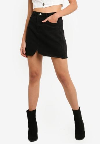 1d0d3587f Buy MISSGUIDED Raw Hem Denim Mini Skirt Online on ZALORA Singapore
