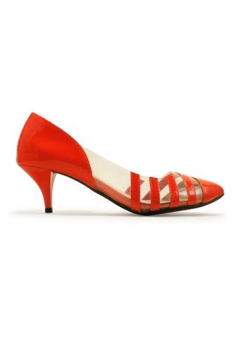 Gripz orange Strapious Glossy Mid Heels GR357SH23IQISG_1