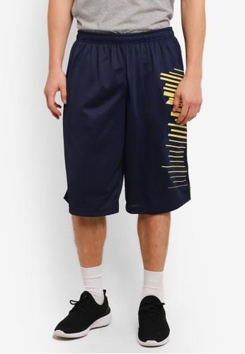 2GO navy Printed Basketball Shorts 2G729AA0S5VYMY_1