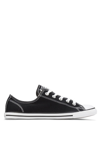 47ec8553a9c1 Converse black Chuck Taylor All Star Dainty Ox Women Sneakers  CO302SH75YJKMY 1