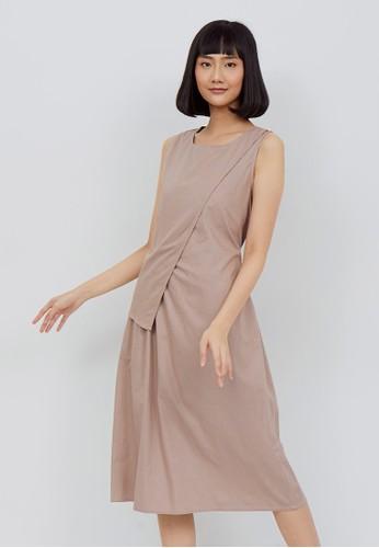 Kimora Kei brown Kimora kei Baju Wanita Akira Dress Cream Mocca 70D3BAA7F1E19FGS_1