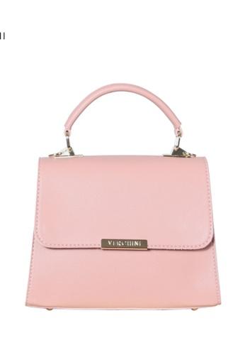 Verchini pink Verchini Metallic Push-Lock Trapeze Bag 04FDEAC9B1FF2CGS_1