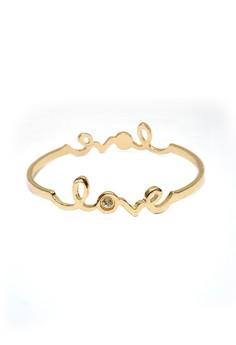 Rhinestone Love Bangle Bracelet