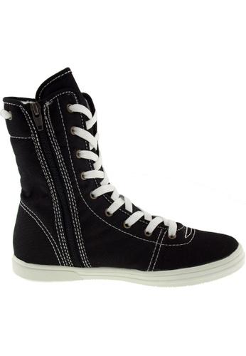 Maxstar Maxstar Women's 8119 Hidden Heel Canvas High Top Shoes US Women Size MA168SH80ZTNHK_1