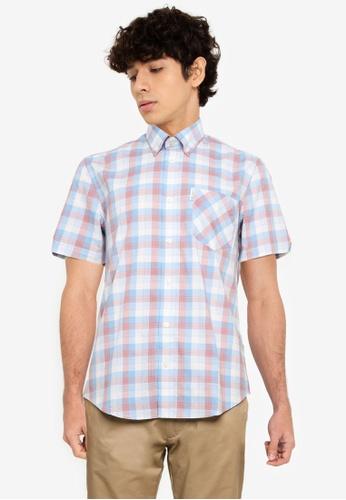 Ben Sherman blue Large Gradient Check Shirt D4B65AA233C47EGS_1