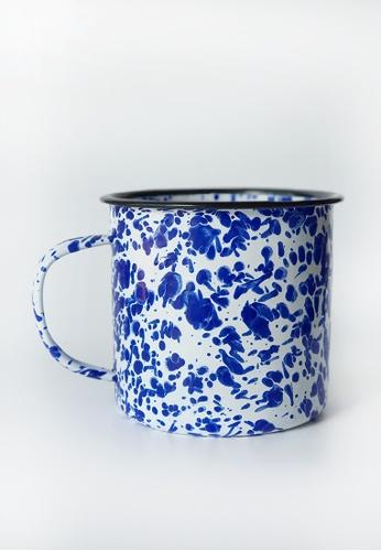 Your Lagom white and blue XL Paint Splatter Enamel Mug 25523HL9BB19DFGS_1