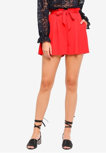 ONLY red Jenna High Waist Shorts 3465CAAAFBE5DCGS_1