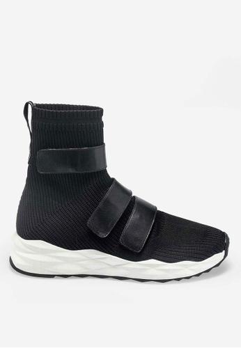 ASH Strut - Black Knit High-Top Sneakers 65D0ESHC02B603GS_1