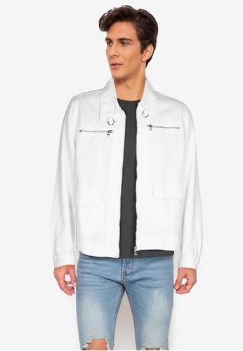 ZALORA BASICS white Utility Denim Jacket ACD00AA5CDA8C2GS_1