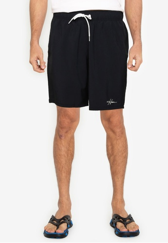 Hollister black Solid Guard Shorts F96CAUS82BC5C6GS_1