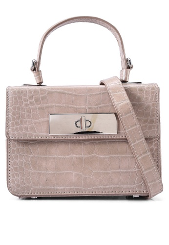 Milliot & Co. beige Liz Top Handle Bag B0A87ACAB35B3EGS_1