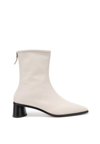 RABEANCO 米褐色 RABEANCO SAFA 中跟筒靴 - 米色 46787SH83CD3E0GS_1