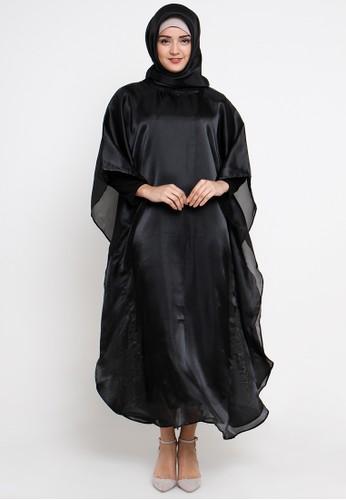 TITAN'S WARDROBE black Organza Kaftan Black TI407AA09LUGID_1