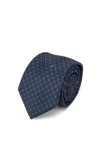 MANGO Man blue Floral Print Tie 578B8ACAE64277GS_1
