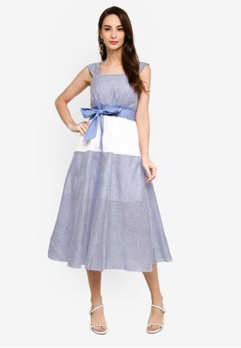 Saturday Club multi Strappy Striped Midi Dress 47EBBAAD1855C6GS_1