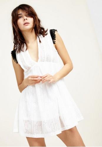 棉質流蘇洋esprit au裝, 服飾, 短洋裝