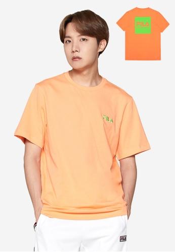 FILA orange Unisex FILA Logo T-shirt 5DB0AAA5E11EFAGS_1