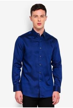 c89143e8043288 G2000 blue Cotton Twill Long Sleeve Shirt 5DFAEAA8D3F719GS 1
