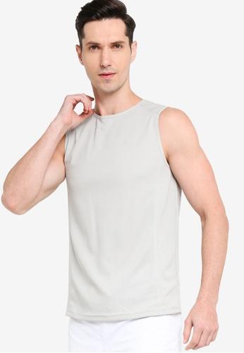 ZALORA ACTIVE grey Muscle Sleeveless T-Shirt E25CAAAE75F2B0GS_1