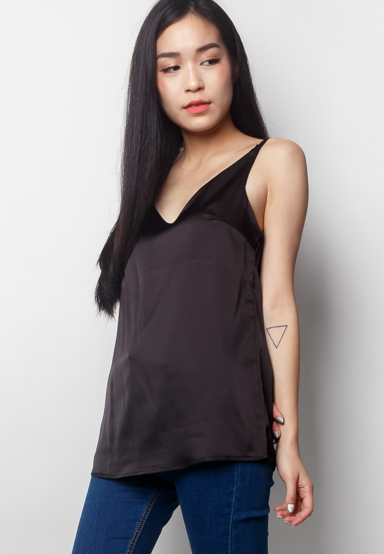 2nd In V ARIES Edition Black neck Camisole Black qSTqrCw