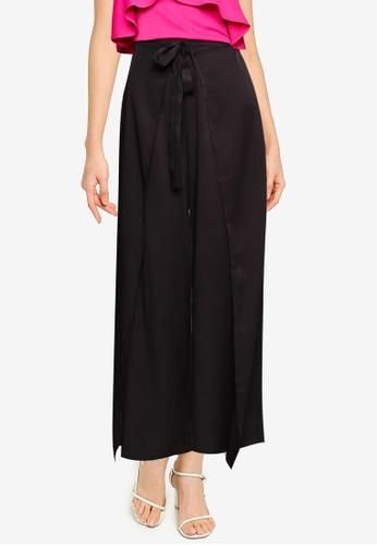 ZALORA BASICS black Wrap Detail Pants CB669AAB6AA31DGS_1