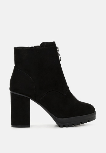 London Rag 黑色 黑色拉链短靴 SH1716 0D95ASH3A07CF0GS_1
