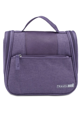 Bagstationz purple Lightweight Water Resistant Travel Organizer And Toiletries Pouch 96D28AC85DD68EGS_1