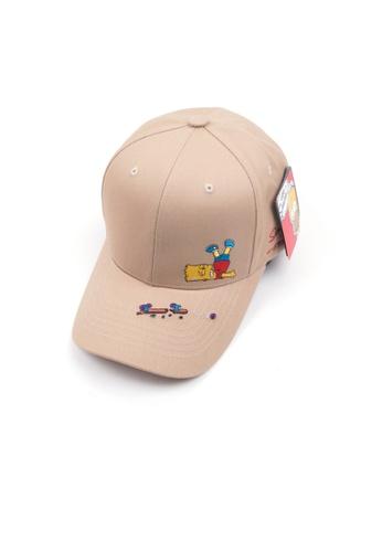 M-Wanted beige M. The Simpsons Series Baseball Cap - Bart X Skate-boarding Fails X Ooops B1145AC41746B1GS_1