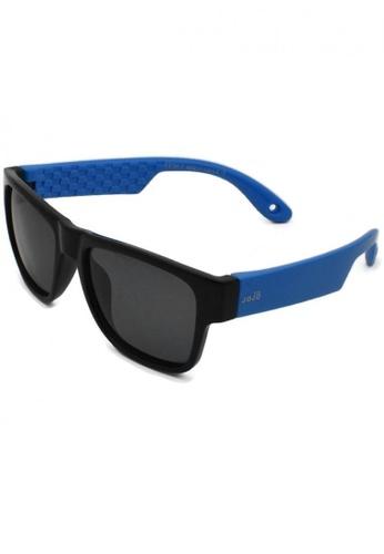 jojo black Inner Checkered Print Wayfarer Polarized Sunglasses 21F89KC2436D7AGS_1