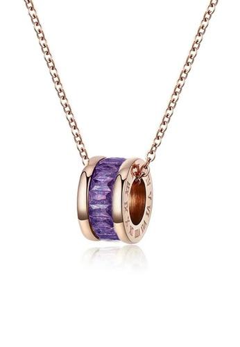 CELOVIS purple and gold CELOVIS - Oceane Purple Cryolite Necklace AE850AC20CA134GS_1