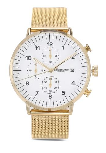 Stuhrling Original gold Monaco 3911 Watch DC4A2AC3512C92GS_1