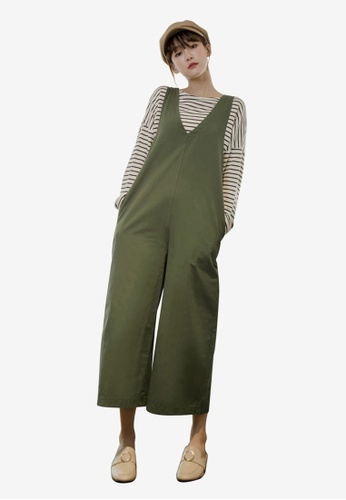 Tokichoi green Pinafore Jumpsuit 1B2E1AAA2A250AGS_1