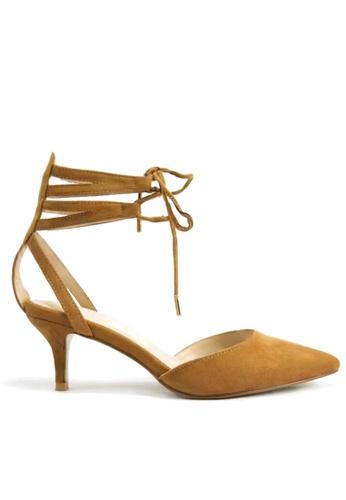 Twenty Eight Shoes 綁帶中空尖頭中跟鞋 VS101 TW446SH26VVLHK_1